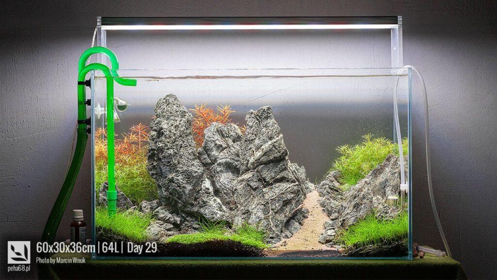 Akwarium 60x30x36cm